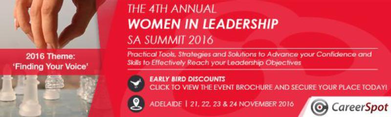 The 4th Annual Women in Leadership SA Summit 2016