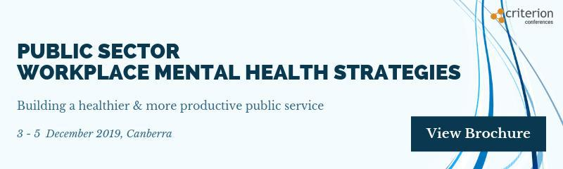 Public Sector Workplace Mental Health Strategies
